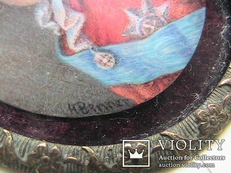 Миниатюрный портрет императора Павла в детстве с подписью автора Benner, фото №10