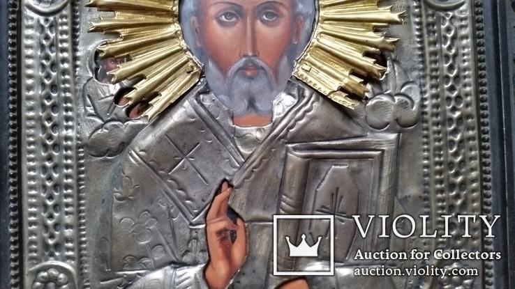 Ікона Микола Чудотворець, латунь, 31х26 см, фото №5