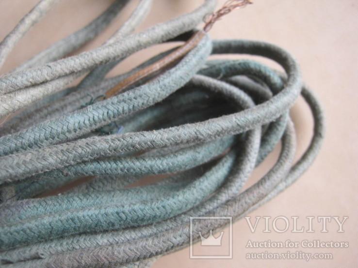 Ретро шнур в тканевой оплетке 3,8 м, фото №3