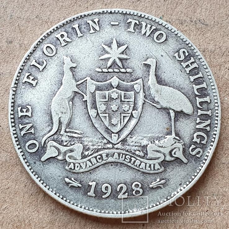 2 шиллинга (флорин) 1928 г. Георг V, Австралия