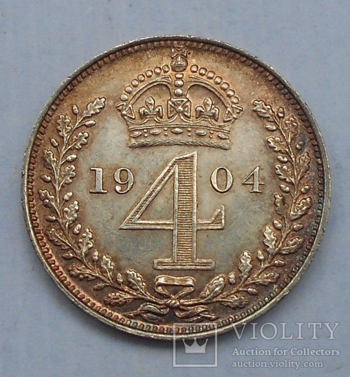 4 Пенса 1904 Maundy Prooflike Эдуард VII