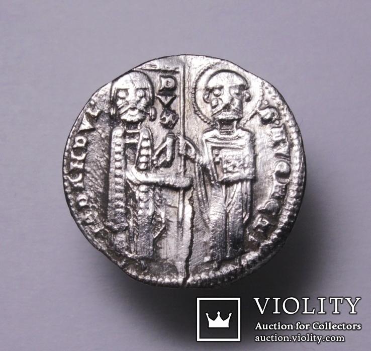 Венеціанська республіка, 48-й дож Джованні Дандоло (1280-1289рр.), срібний гроссо., фото №5