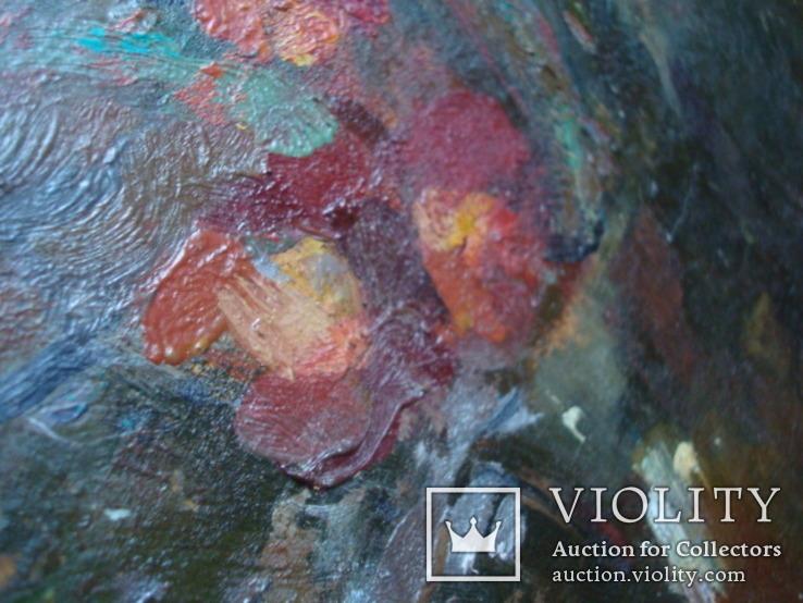 Картина Цветы,масло,картон 76/38см. 1997г. Микиша, фото №8