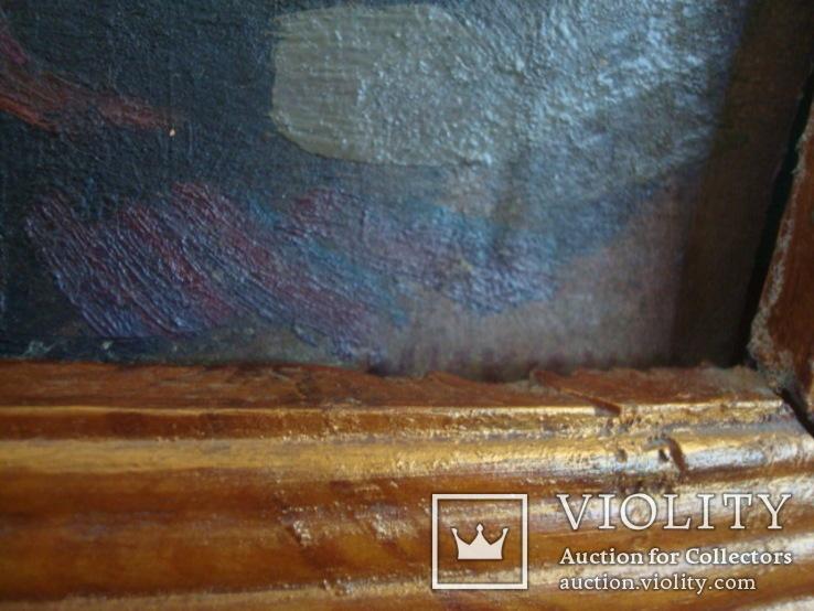Картина Цветы,масло,картон 76/38см. 1997г. Микиша, фото №12