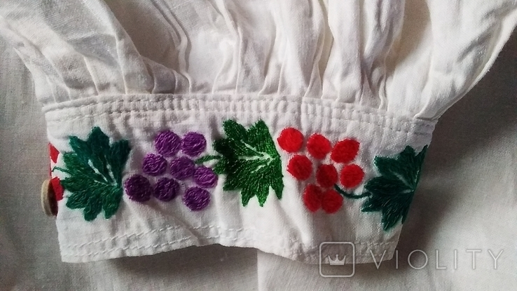 Старинная вышиванка гладью., фото №9