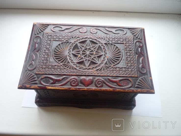 Старая  шкатулка на драгценности Австро Венгрия, фото №2