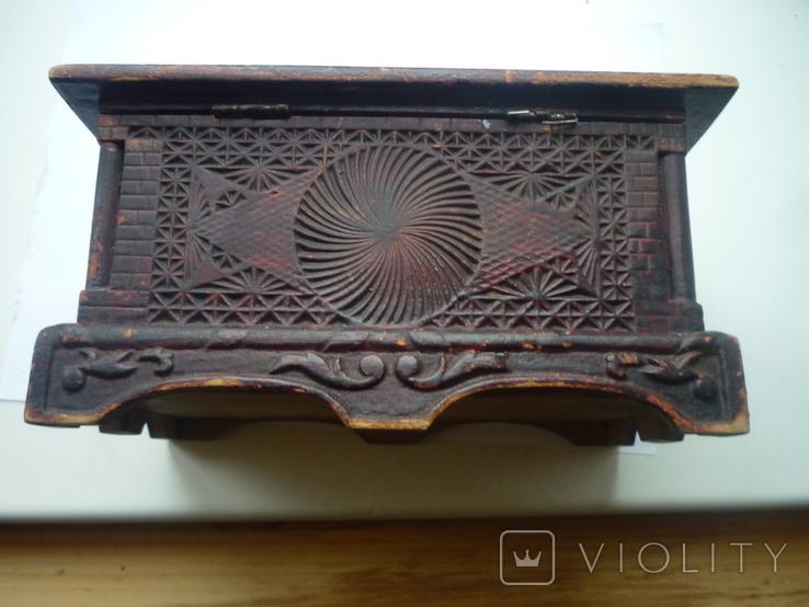 Старая  шкатулка на драгценности Австро Венгрия, фото №7