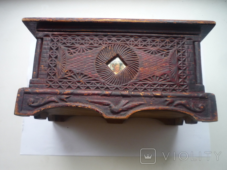 Старая  шкатулка на драгценности Австро Венгрия, фото №10