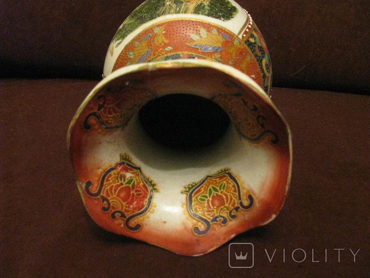 Старая азиатская ваза - фарфор - высота - 25,5 см., фото №9