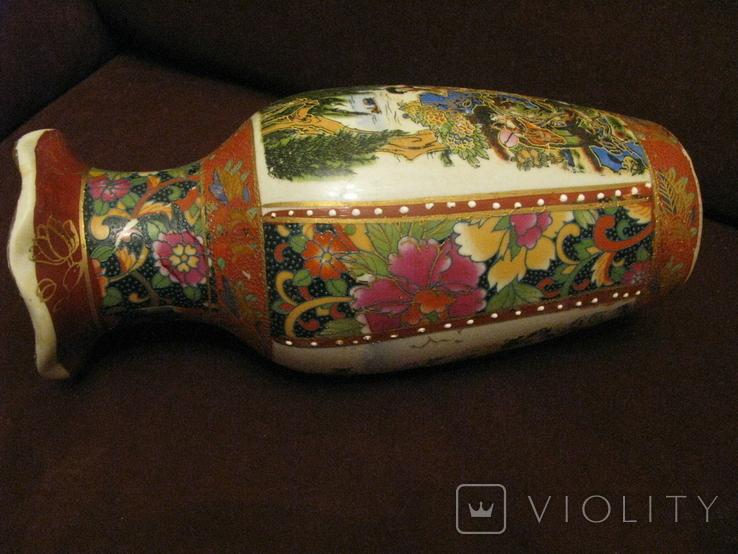 Старая азиатская ваза - фарфор - высота - 25,5 см., фото №10