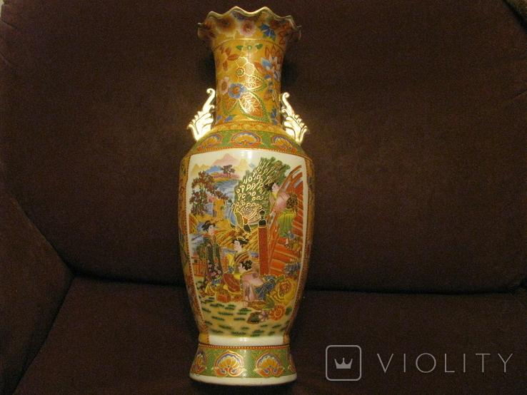 Старая азиатская ваза - фарфор - высота - 46 см., фото №2