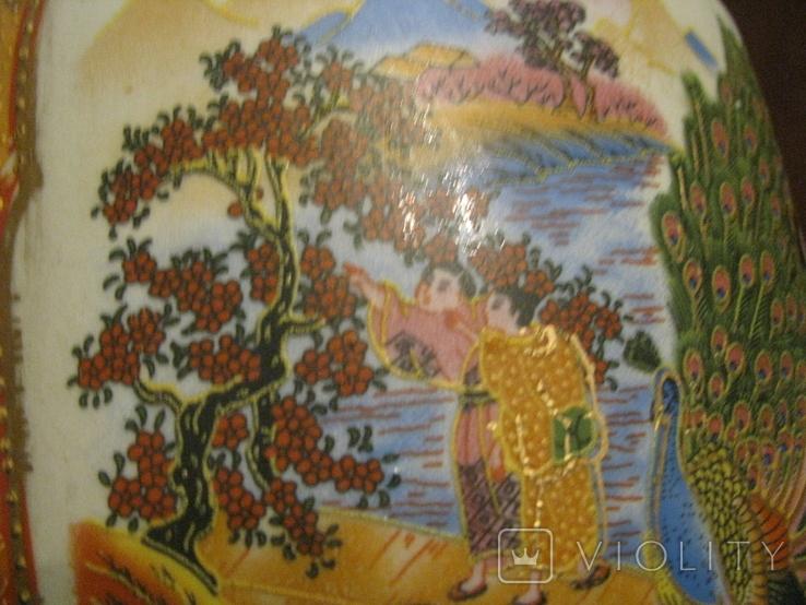 Старая азиатская ваза - фарфор - высота - 46 см., фото №9