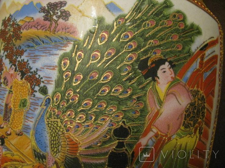 Старая азиатская ваза - фарфор - высота - 46 см., фото №10