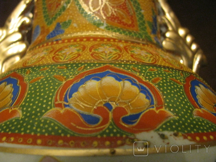 Старая азиатская ваза - фарфор - высота - 46 см., фото №11