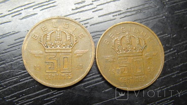 50 сантимів Бельгія 1953 (два різновиди), фото №3