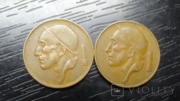 50 сантимів Бельгія 1953 (два різновиди), фото №2