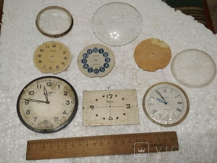 Циферблаты и стекла к разным настольным часам, фото №2