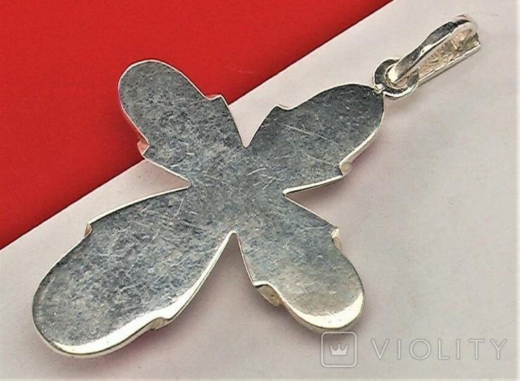 Крестик серебро 925 проба 7,24 грамма, фото №4