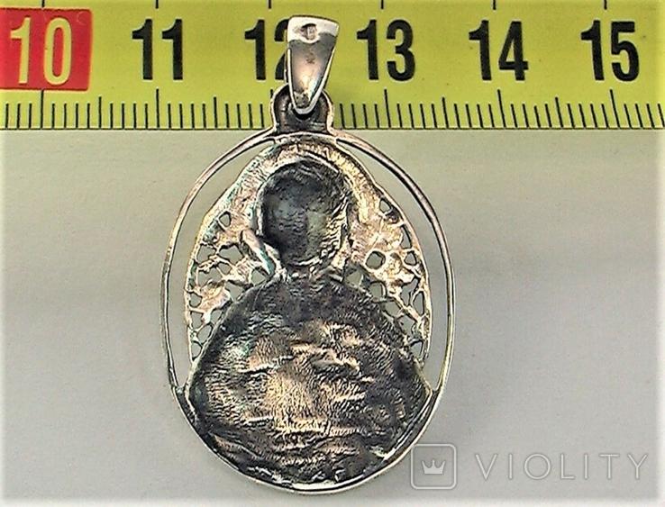 Подвеска медальон серебро 925 проба 6,20 грамма святой великомученик целитель Пантелеймон, фото №6