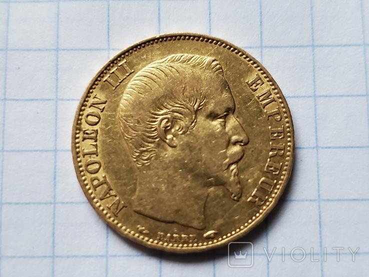 20 франков 1854 год,Франция,Наполеон III., фото №2