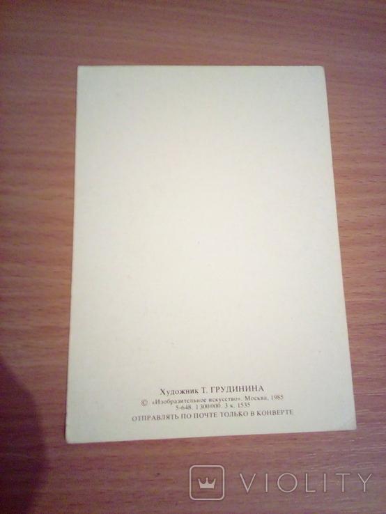 Худ. Грудинина , С Новым годом,  изд, Из.Иск.   1985г, фото №4