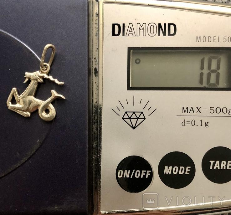 Знак зодиака ,Козерог ' 925 проба ,звезда ', фото №5