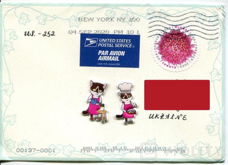 Прошедший почту конверт США флора цветы