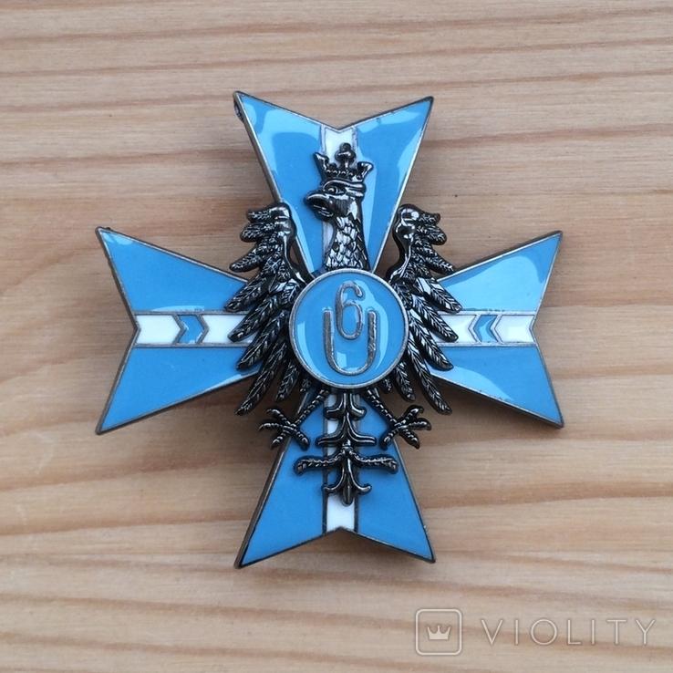 Знак 6 полка уланов Польша обр. 1921 года Копия, фото №3