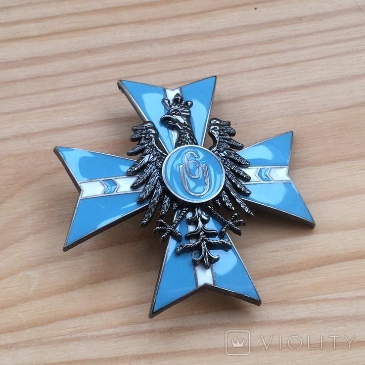 Знак 6 полка уланов Польша обр. 1921 года Копия, фото №4
