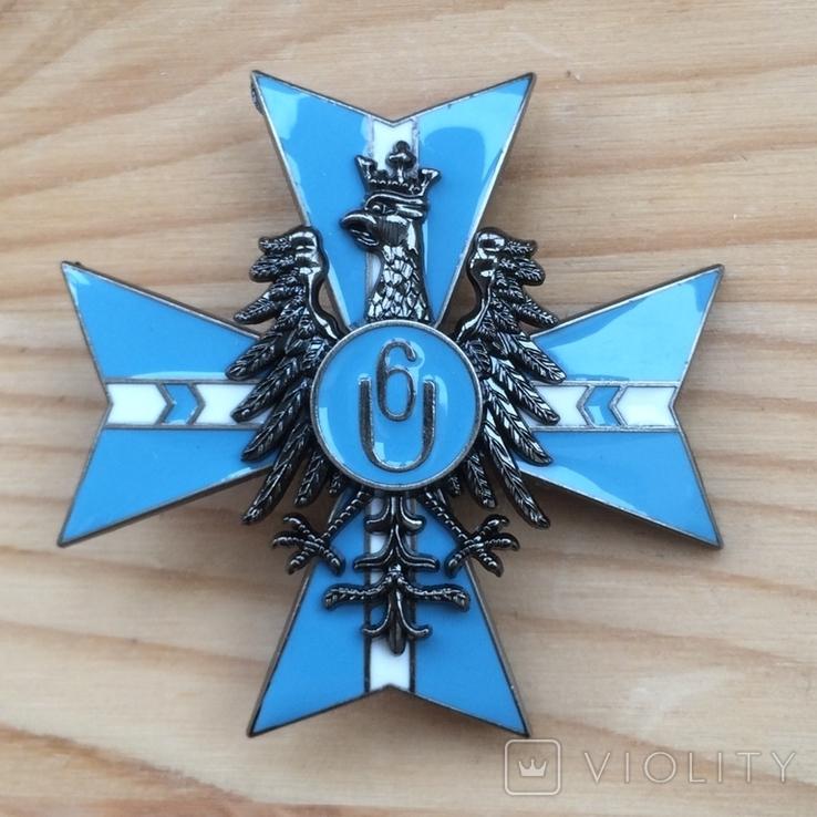 Знак 6 полка уланов Польша обр. 1921 года Копия, фото №2