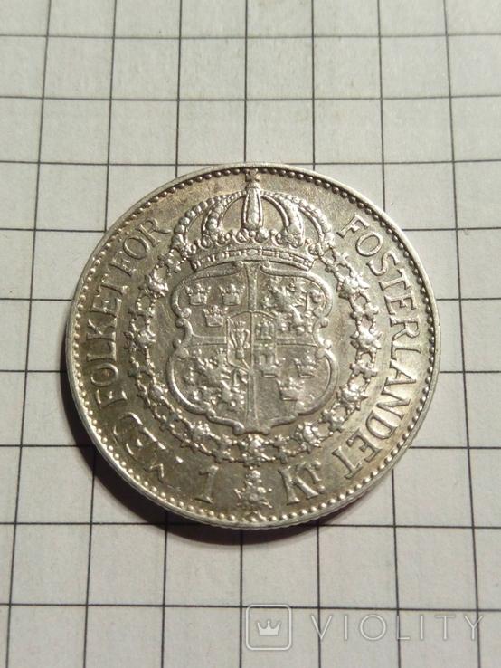 1 крона1938 Швеції, фото №2