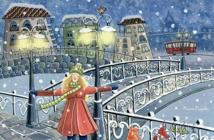 Открытки Новый год Рождество зима дети, фото №4