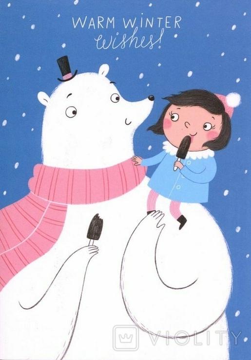 Открытки Новый год Рождество зима дети, фото №5