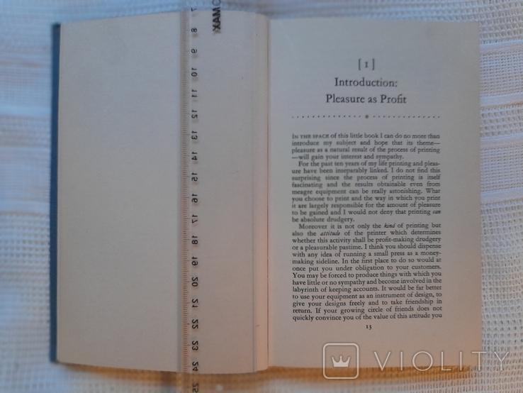 John Ryder. Printing for pleasure. London 1957.Печать для удовольствия., фото №6