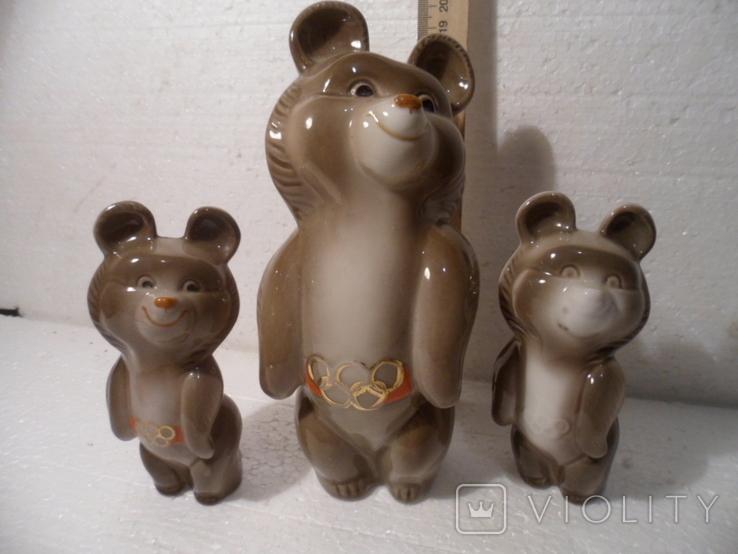 Олимпийские мишки. 3 шт., фото №2