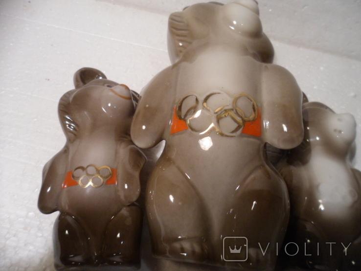Олимпийские мишки. 3 шт., фото №9