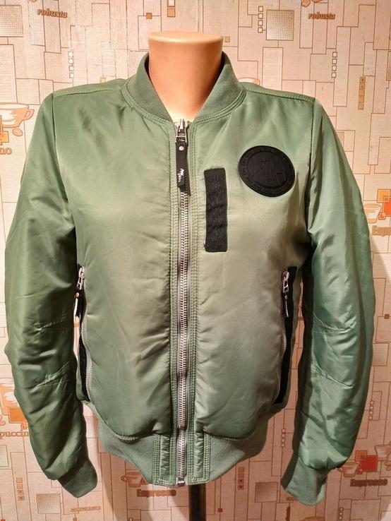 Куртка-пилот утепленная в стиле МА1. Бомбер AMY & IVY p-p M