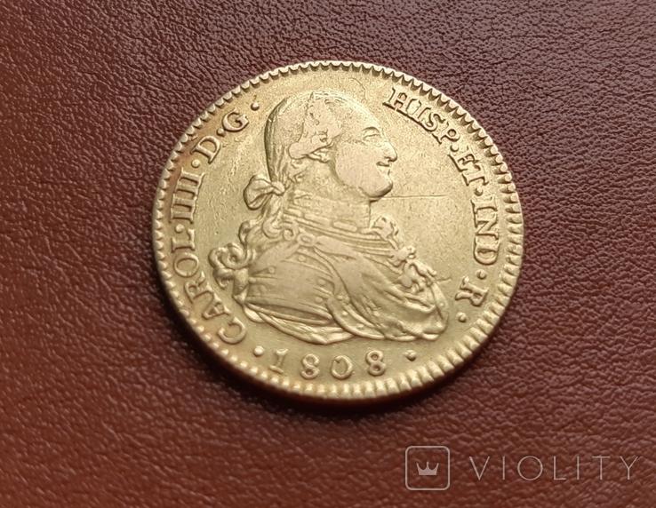 Золото. 2эскудо 1808 г. Испания, фото №3