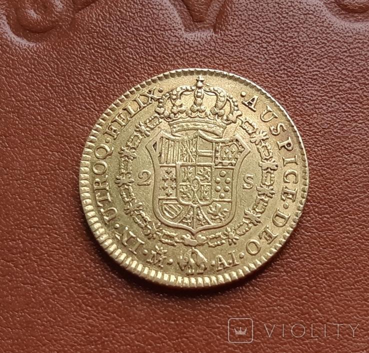 Золото. 2эскудо 1808 г. Испания, фото №5