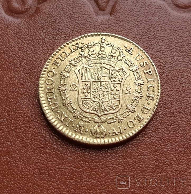 Золото. 2эскудо 1808 г. Испания, фото №11