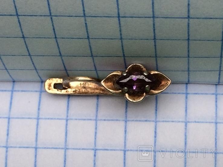 Серебряная серьга, фото №5