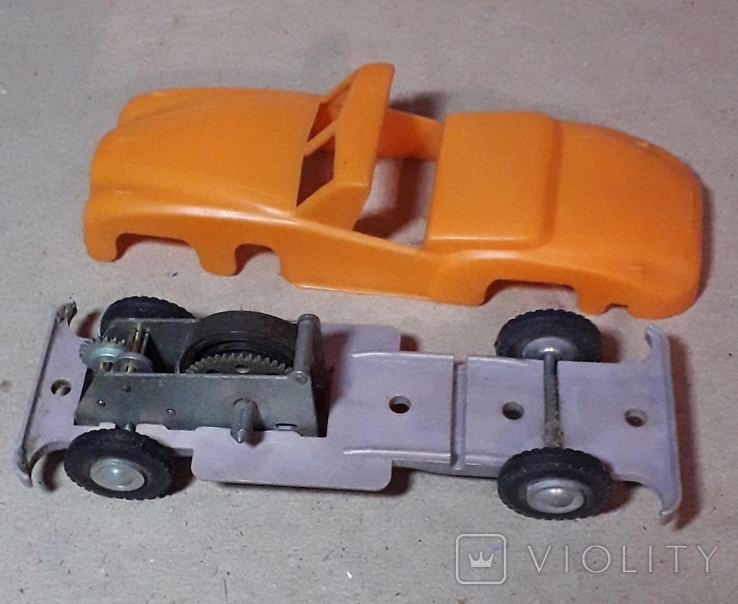 Машинка заводная 60-70-е Кабриолет СССР, фото №8