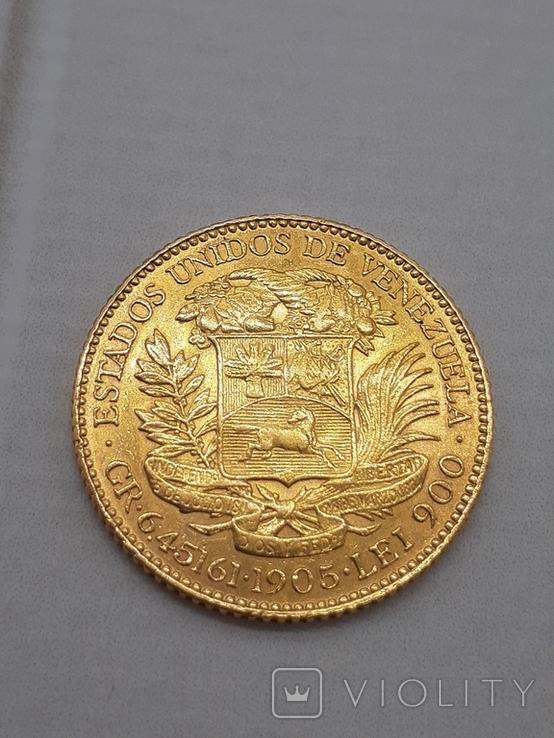 20 боливар 1905. Венесуэлла., фото №3