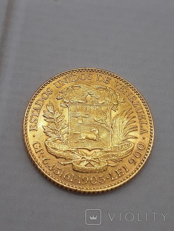 20 боливар 1905. Венесуэлла., фото №4