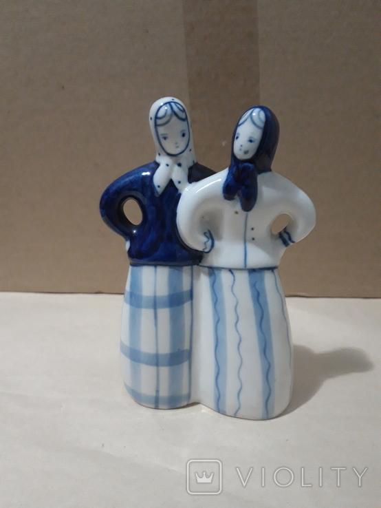 Две подружки.Гжель, фото №2