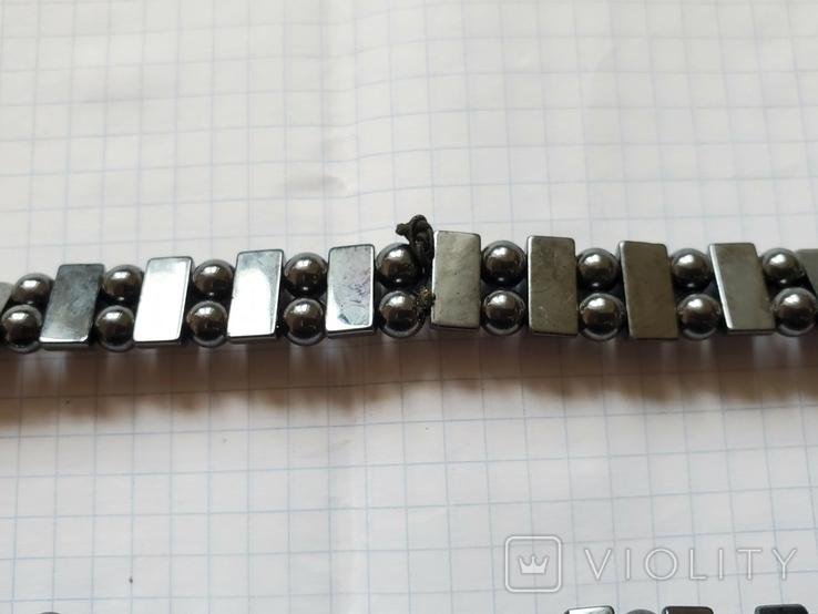 Бусы или браслет,гематит., фото №9