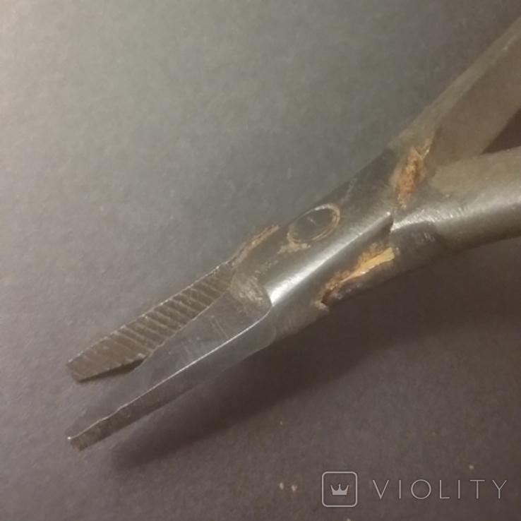 Плоскогубцы узкие ювелирные 125 мм Плоскогубцы связиста, фото №6
