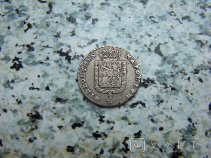 Королевство Вестфалия 1/6 талера 1809 год Жером Наполеон, фото №2