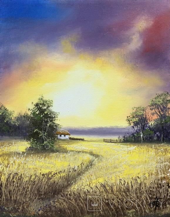 Картина, Колись було літо, 25х20 см. Живопис на полотні, фото №3