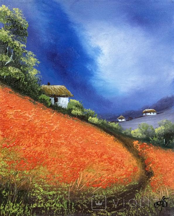 Картина, Яскраві думки про літо, 25х20 см. Живопис на полотні, фото №5